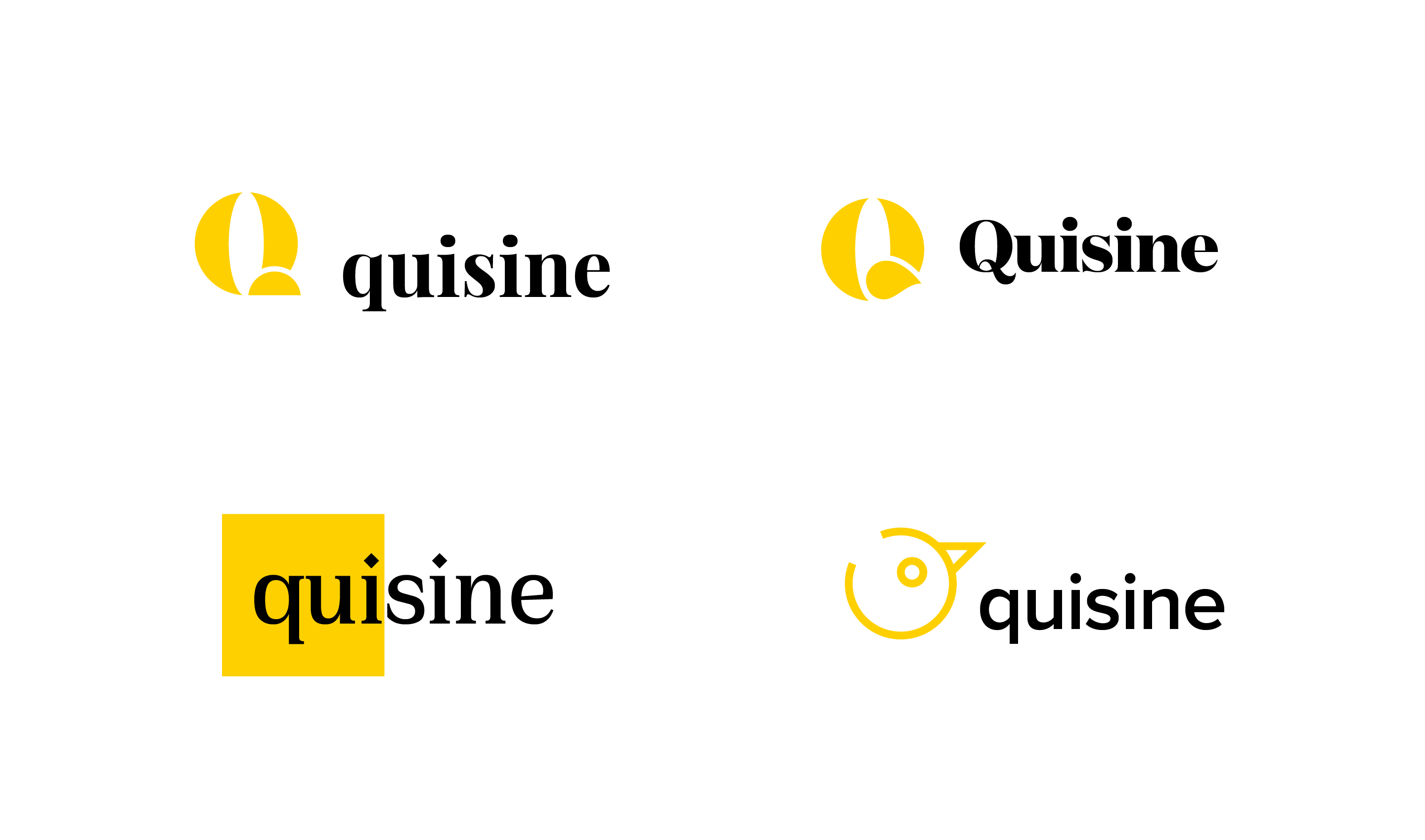 quisine logo design iterations