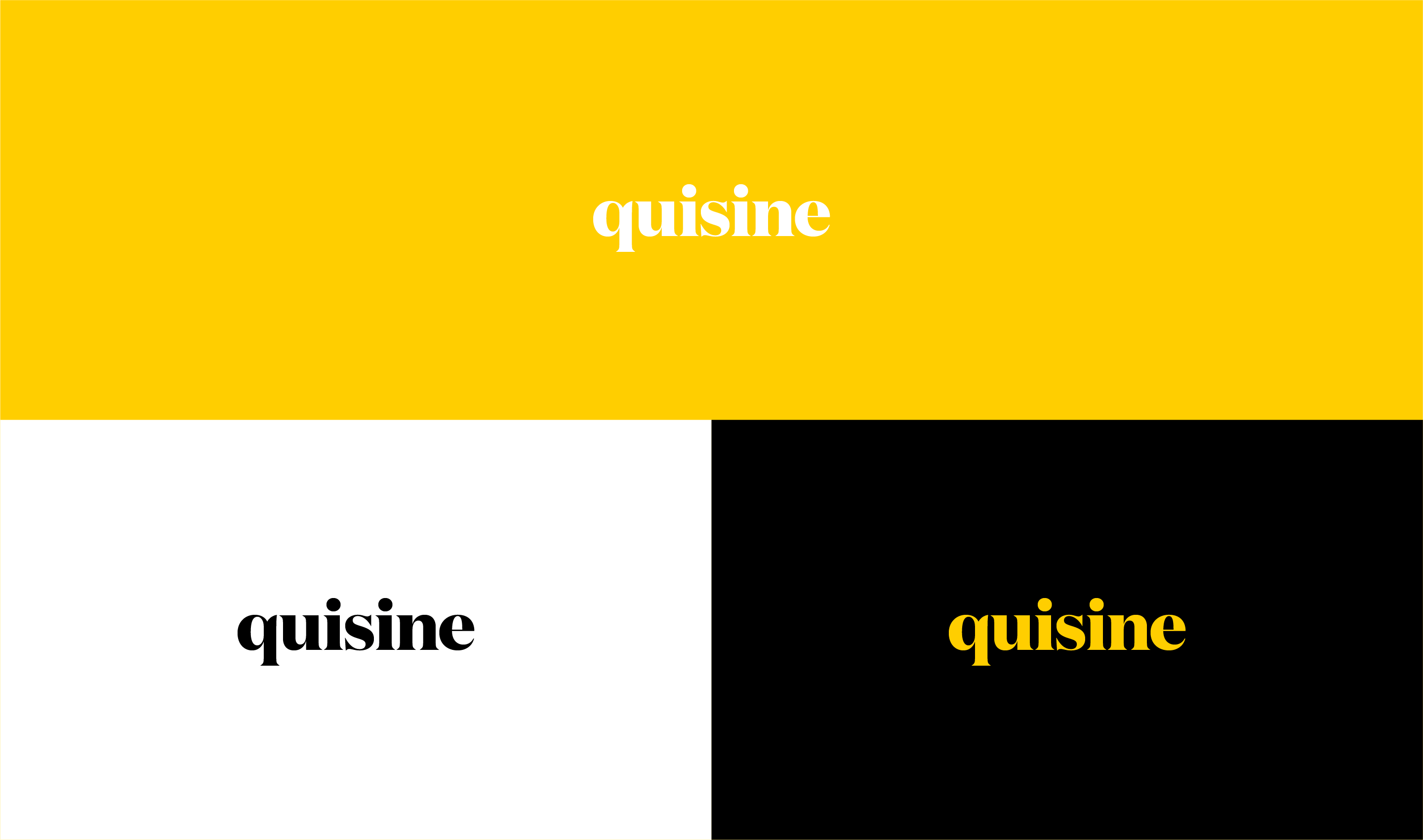 quisine logo colours