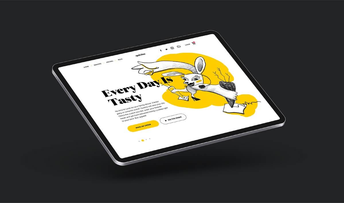 quisine website design