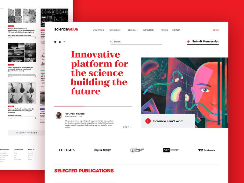 science web platform tubik design