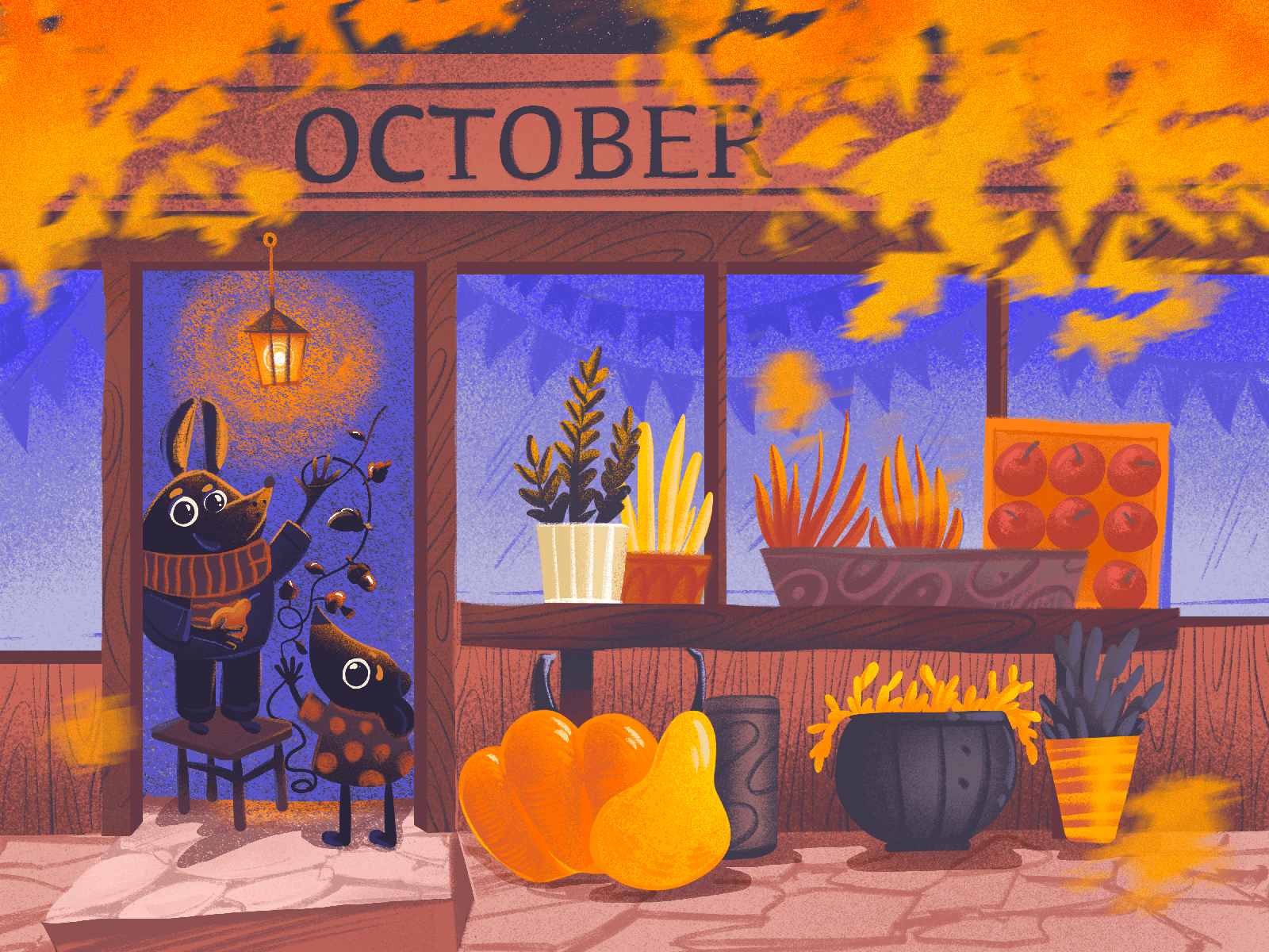Cosy October Illustration