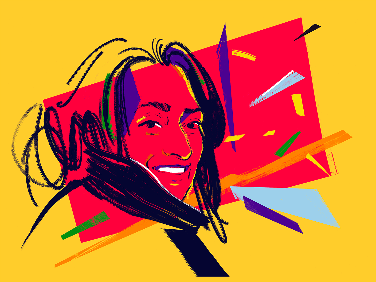 Zaha Hadid Digital Portrait