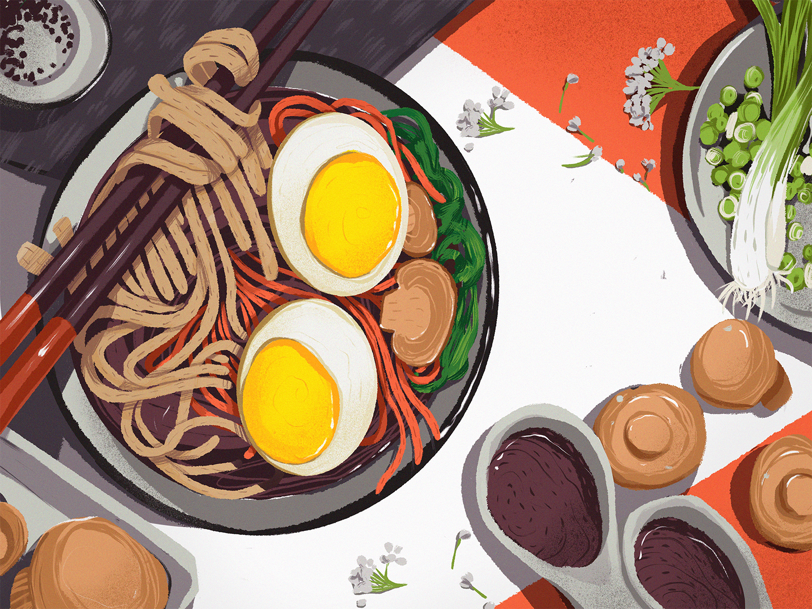 asian food illustration