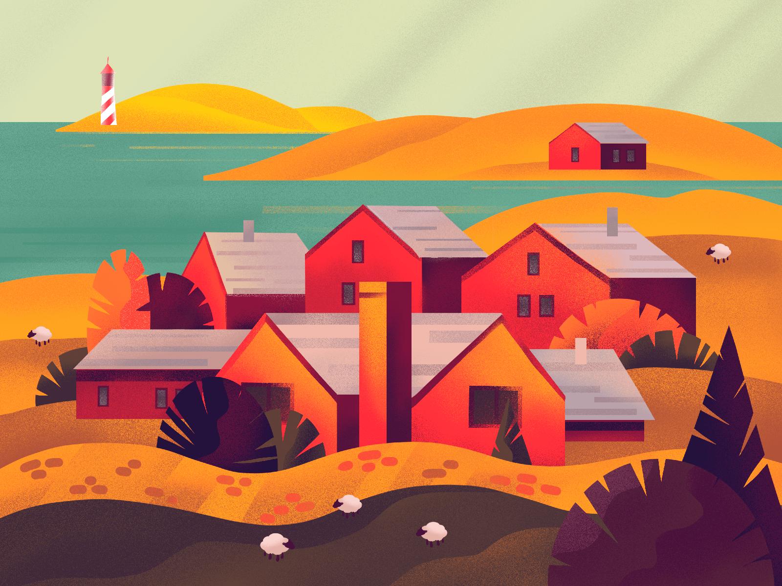 autumn colors illustration