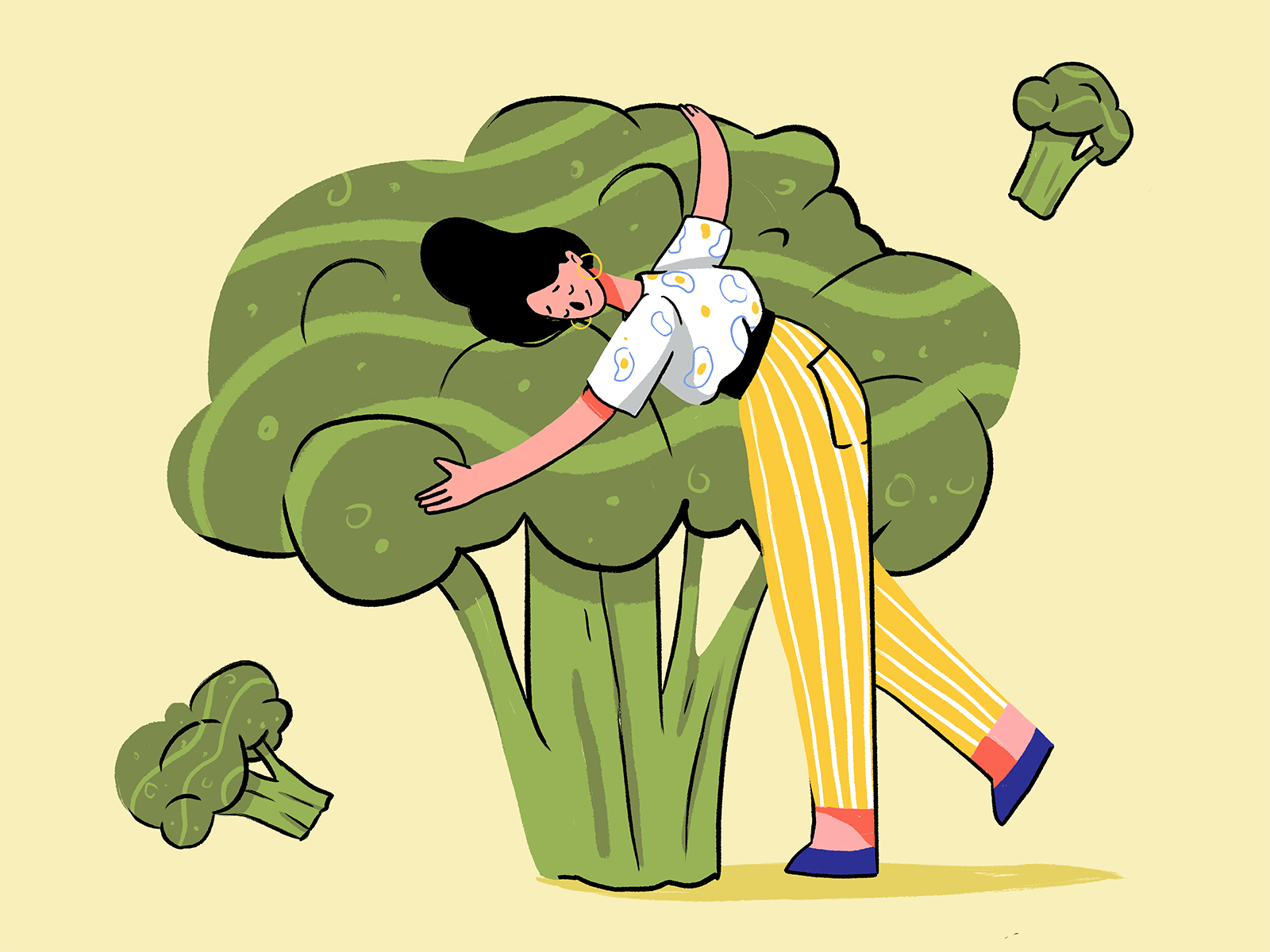 broccoli lover illustration