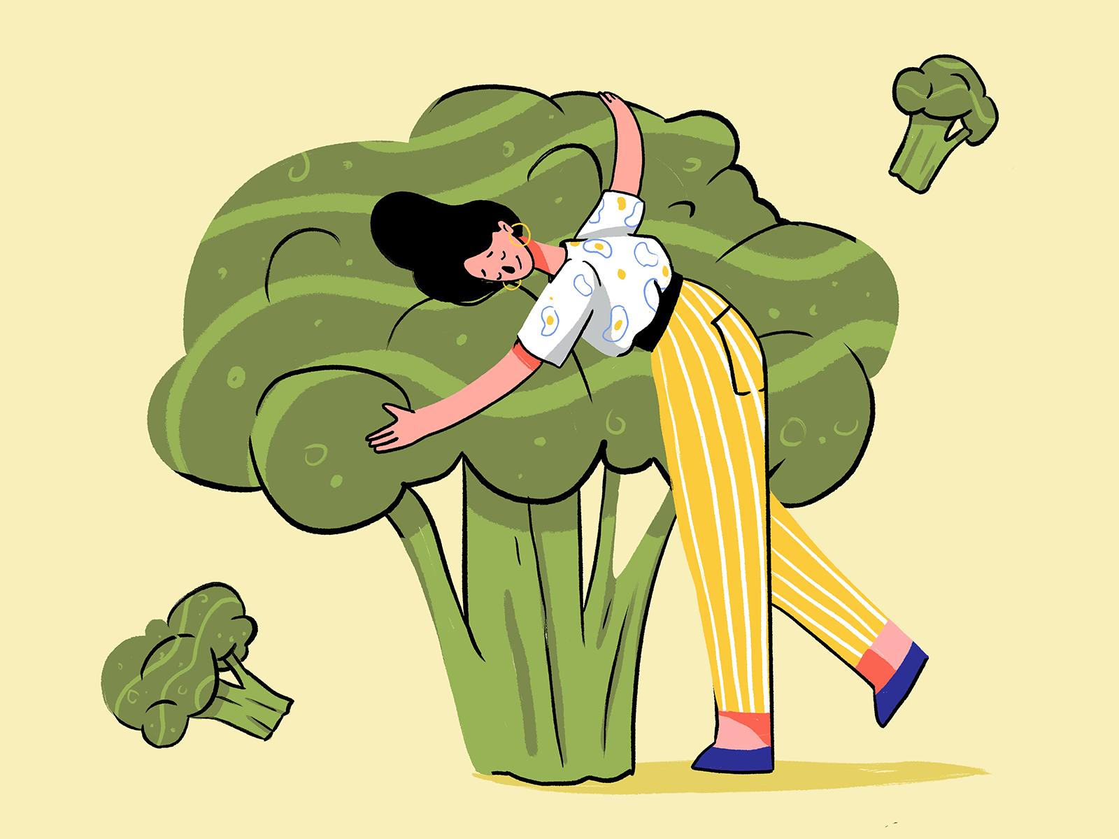 broccoli lover illustration