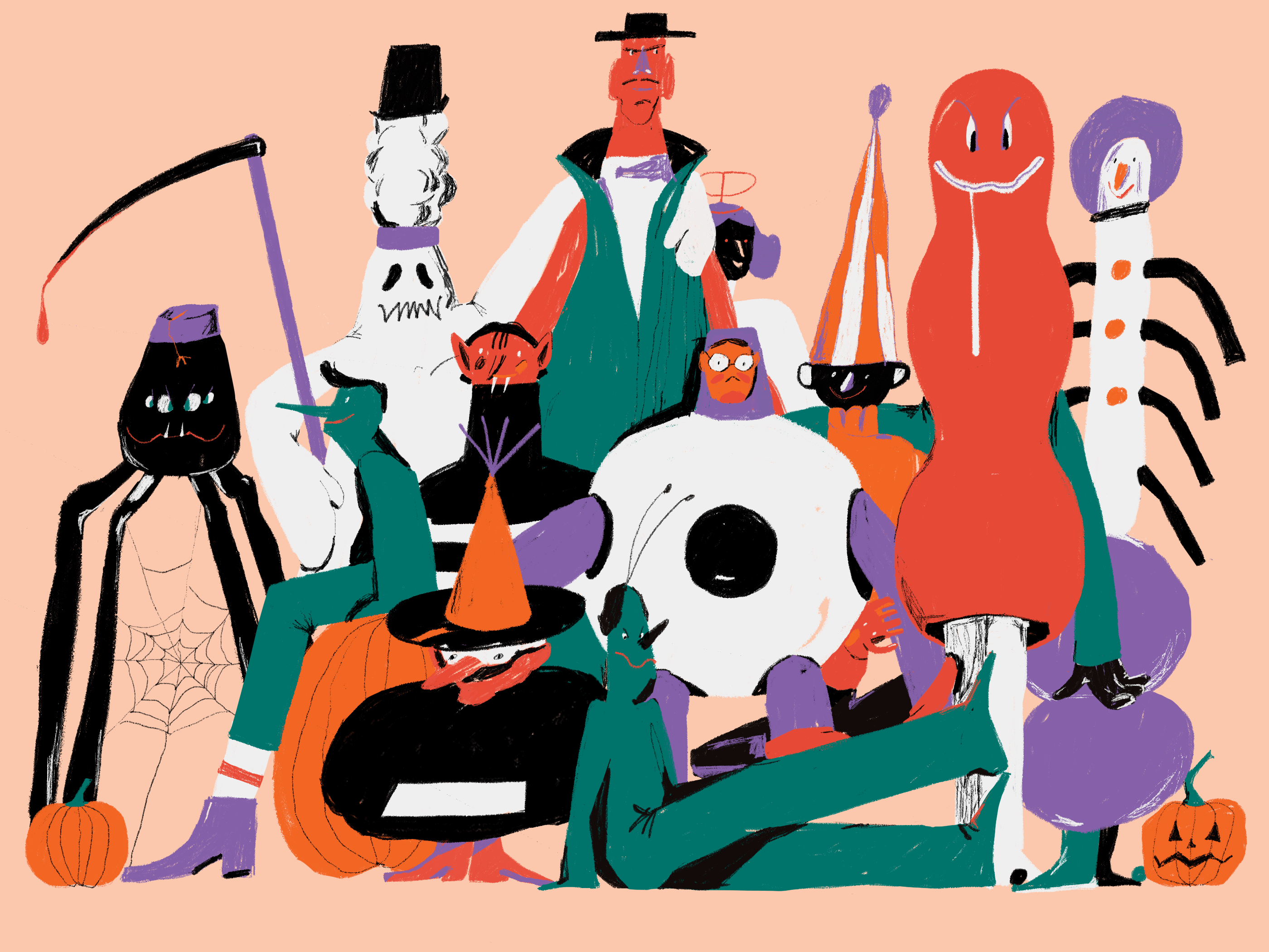 monsters halloween illustration
