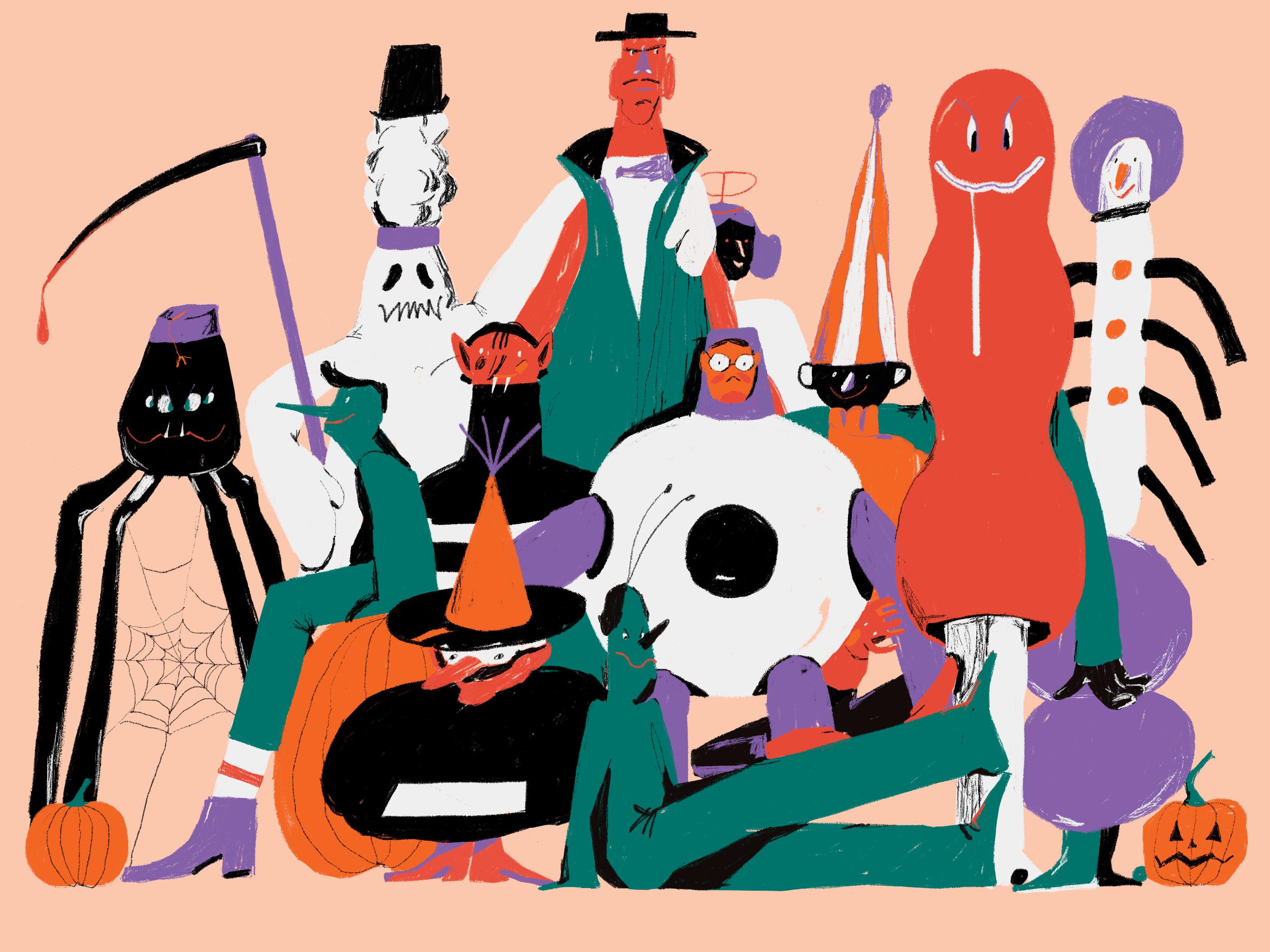 monsters halloween illustration