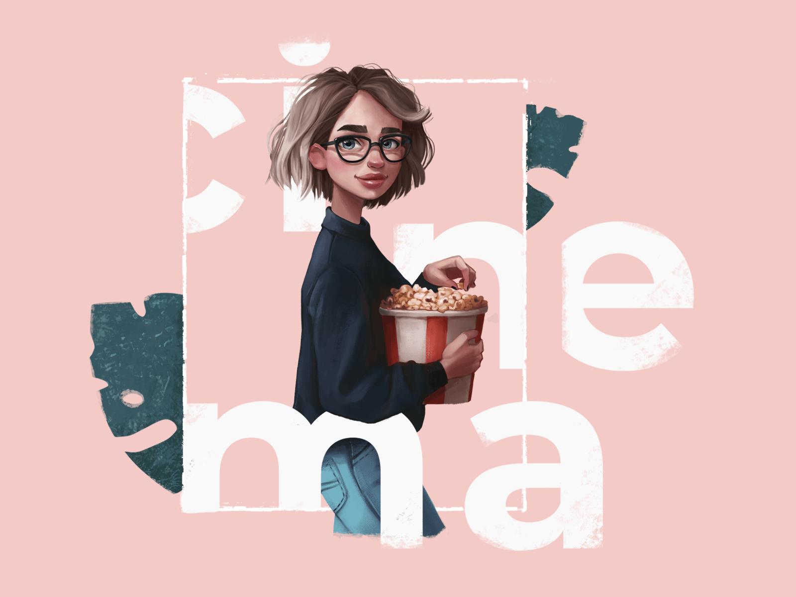 cinema fan illustration
