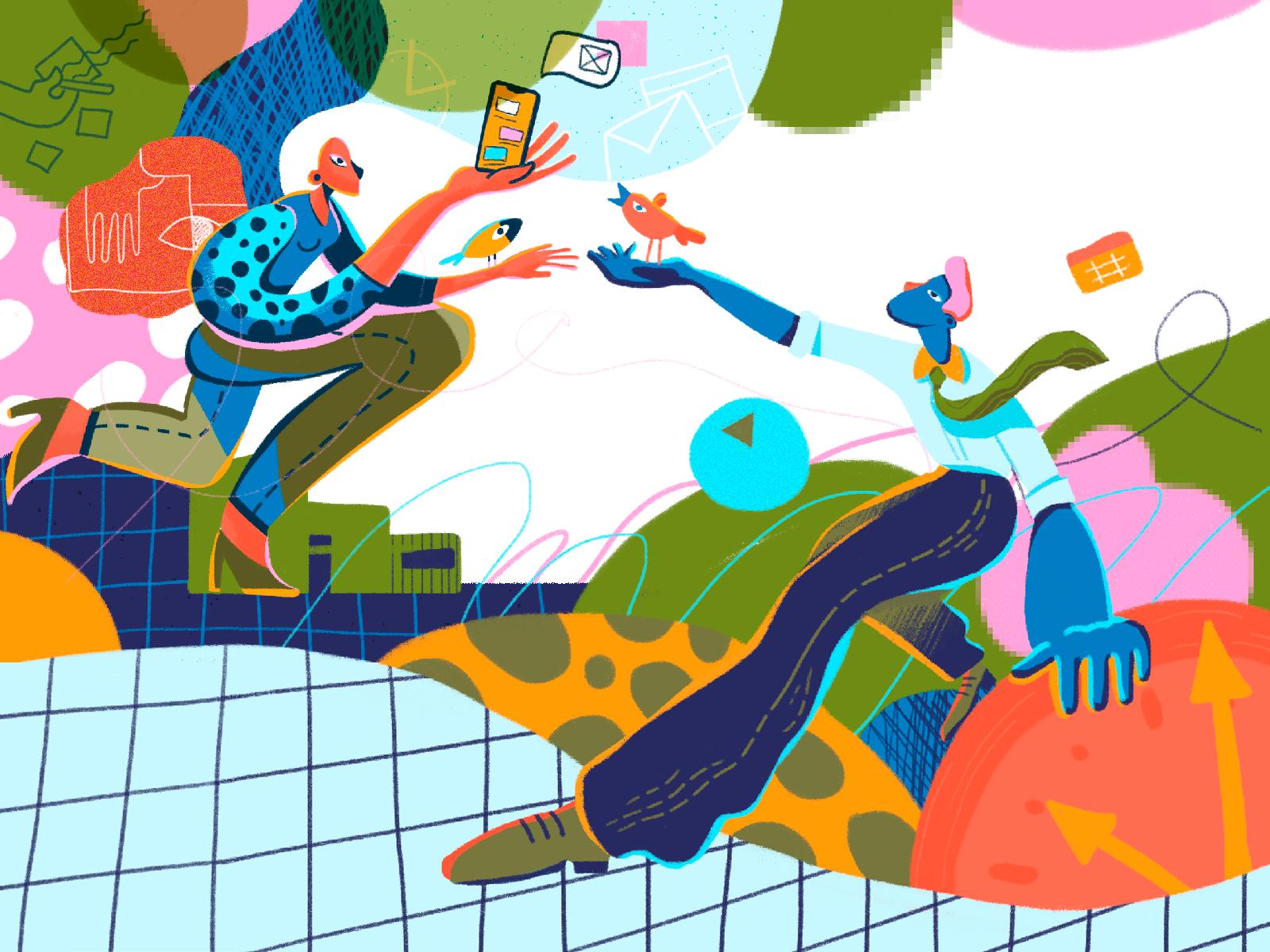 creative productivity illustration tubikarts