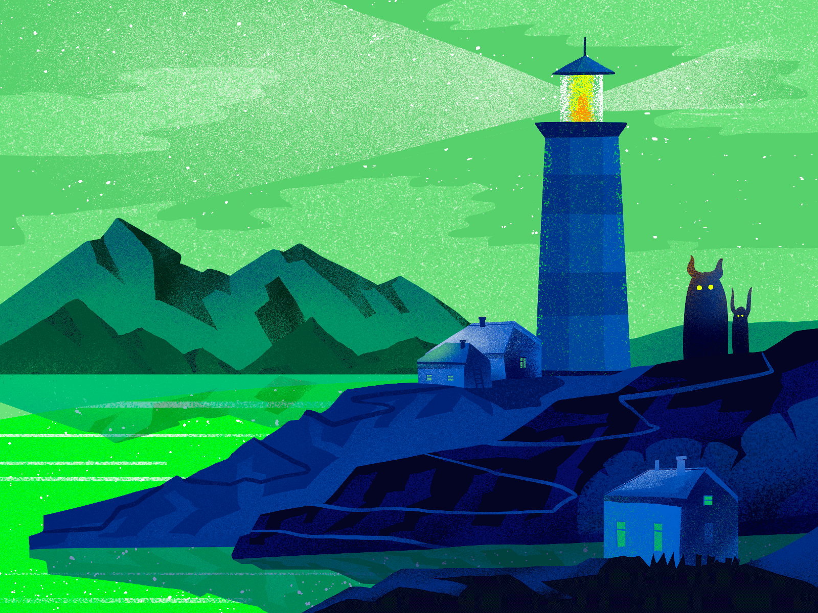 lighthouse illustration tubikarts