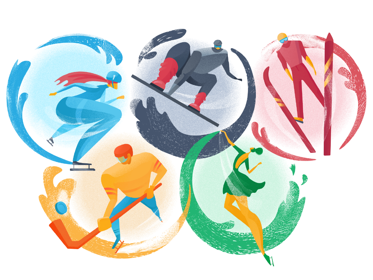 olympic games illustration tutorial