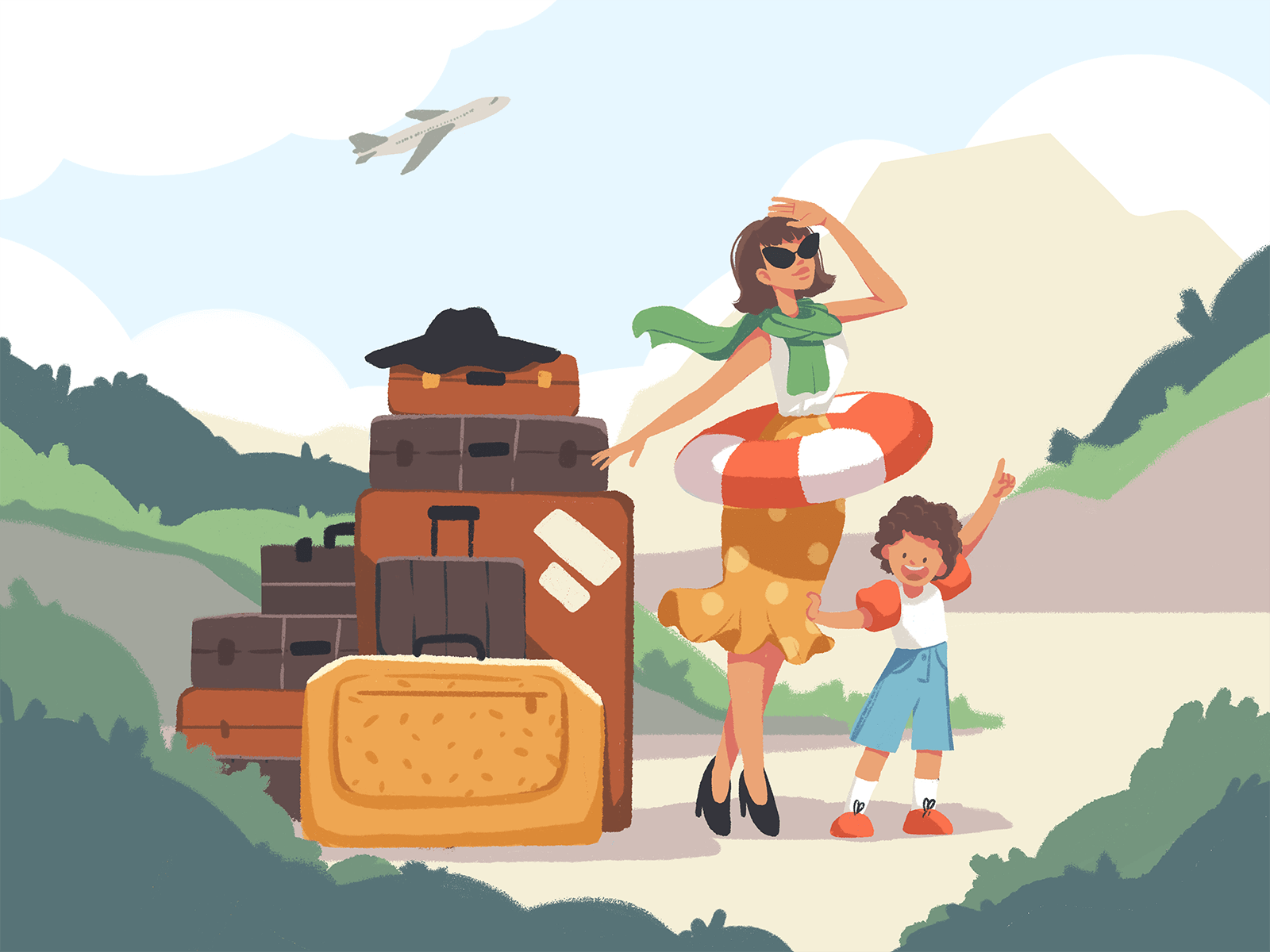 ready for holiday illustration