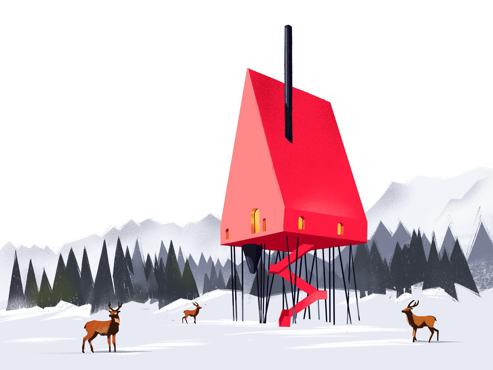 red house illustration tubikarts