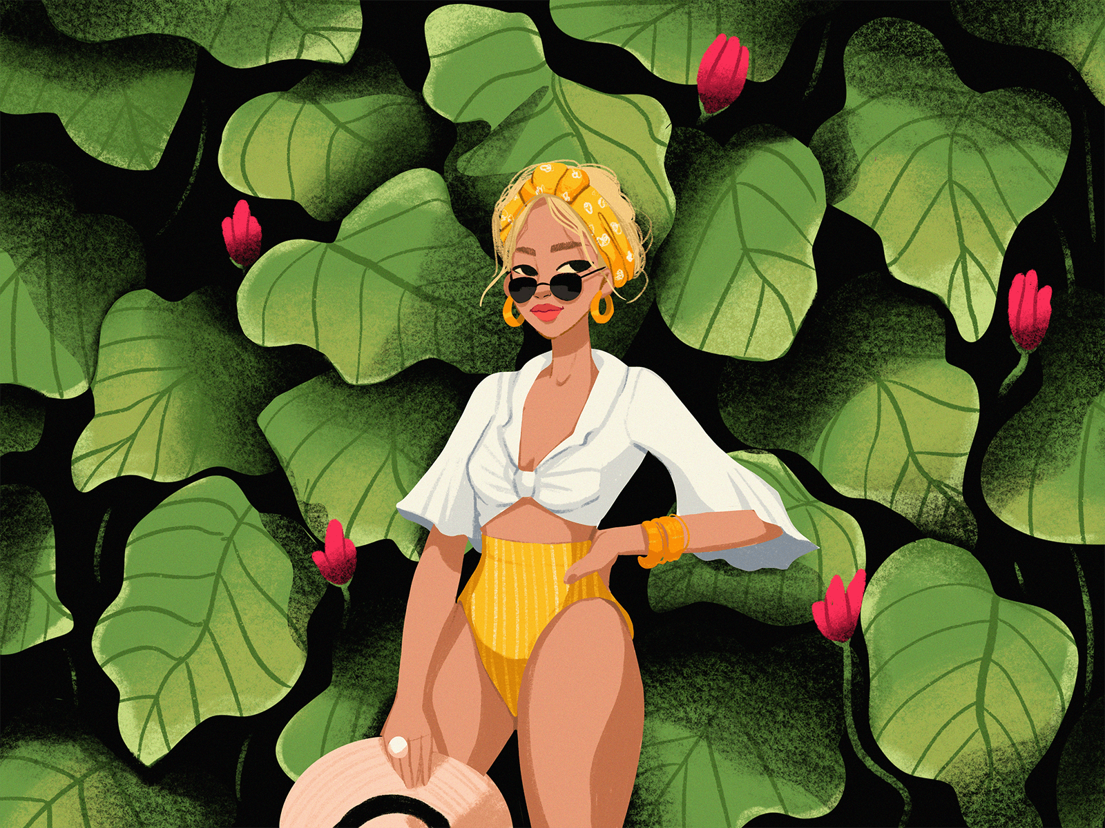 summer throwback illustration