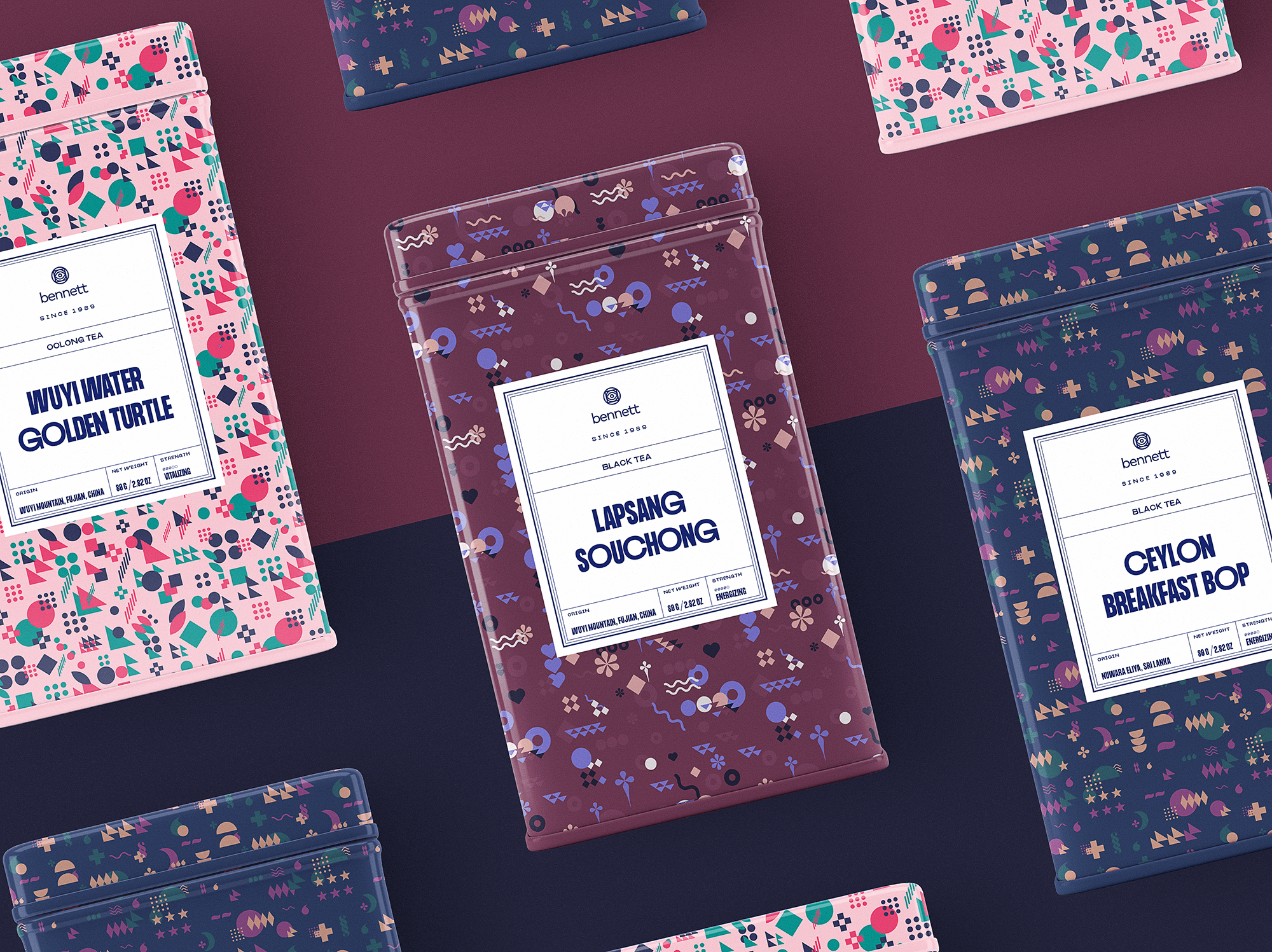 tea brand packaging design tubik