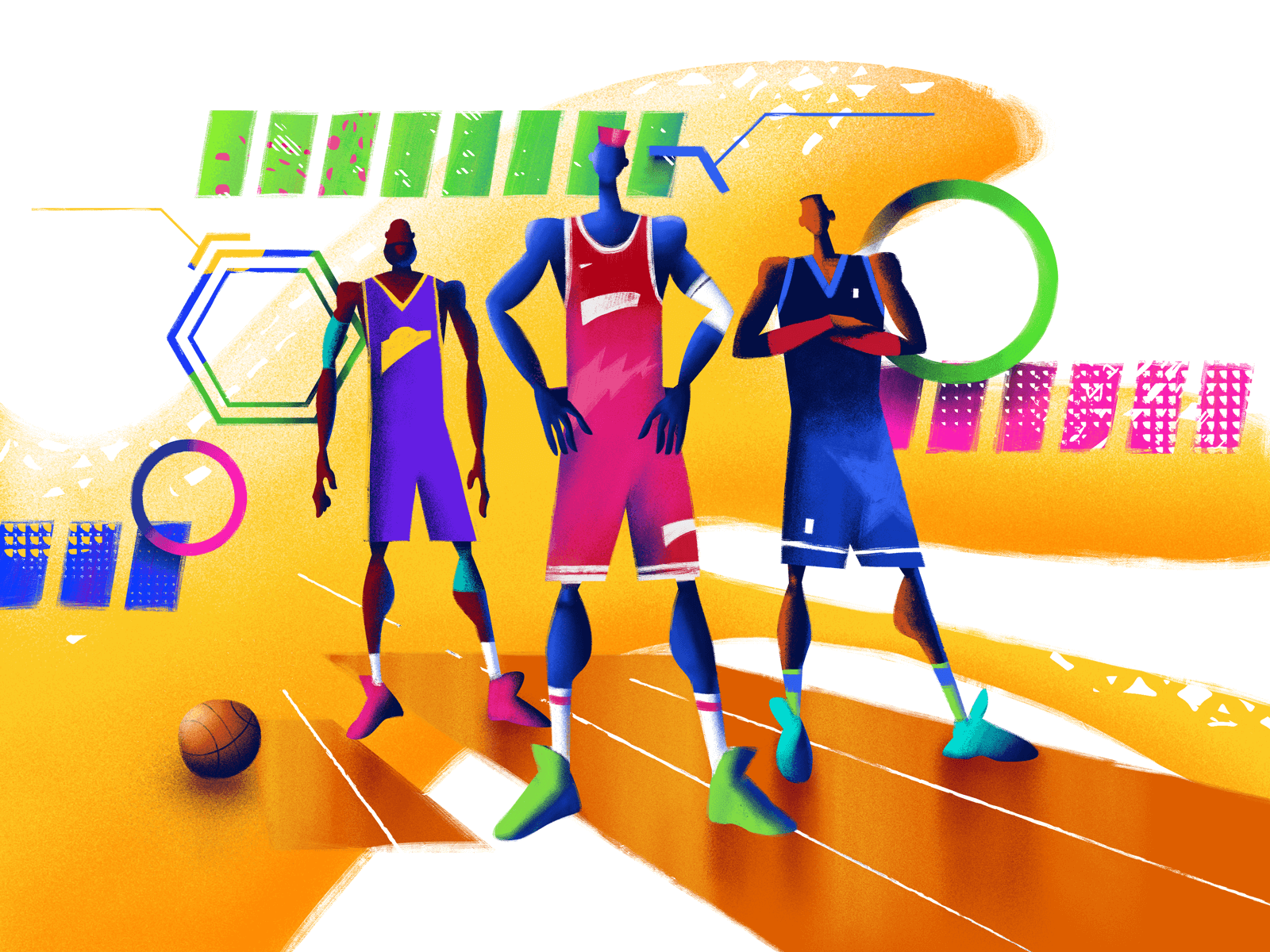 team up design illustration