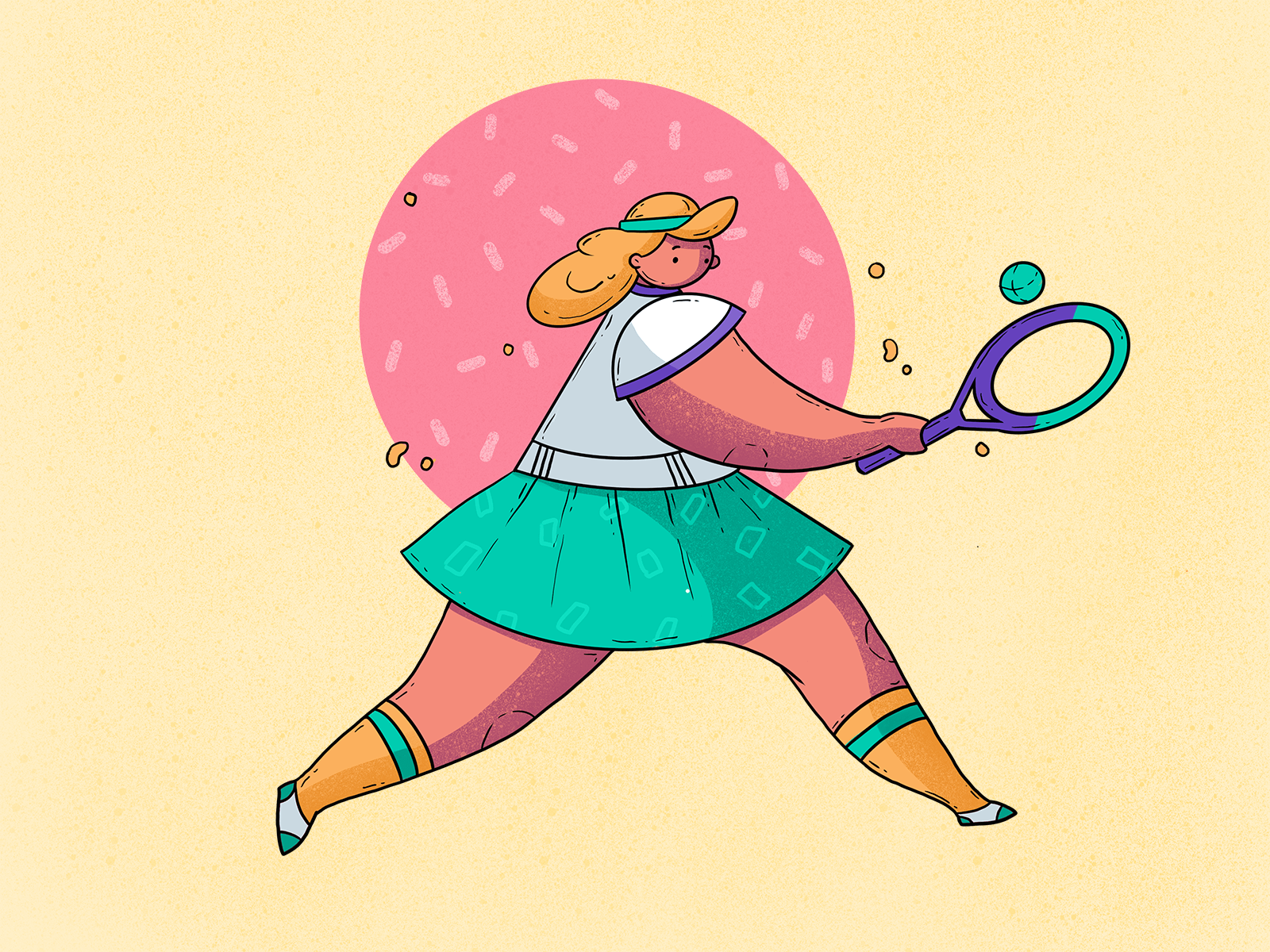 tennis player illustration tubik