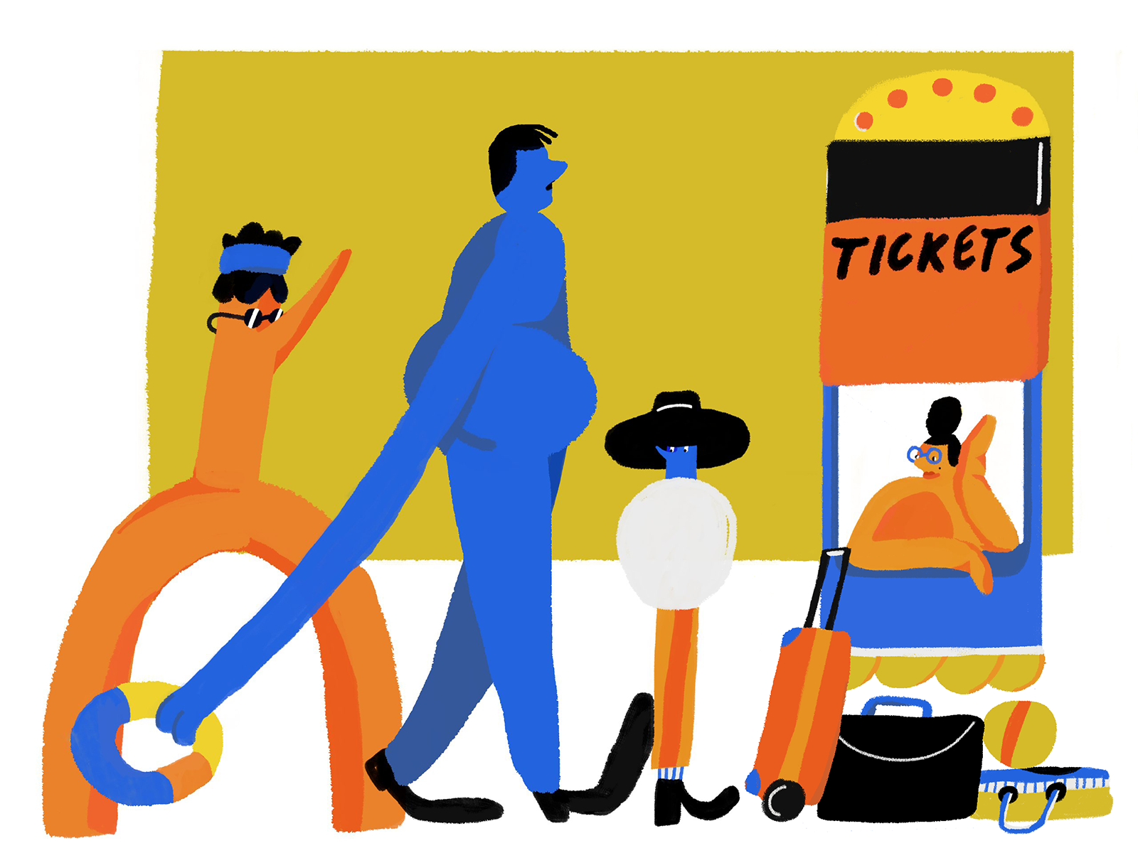 ticket office illustration tubikarts