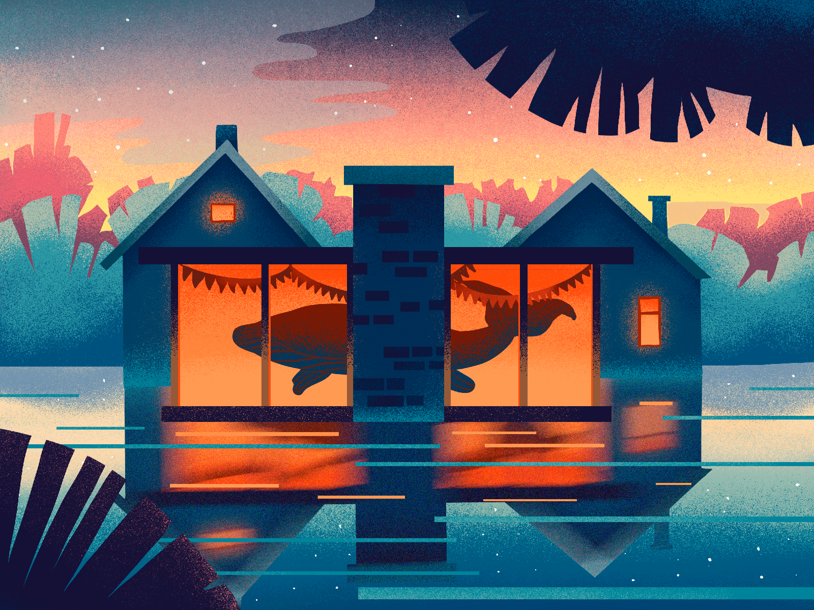 whale at home illustration