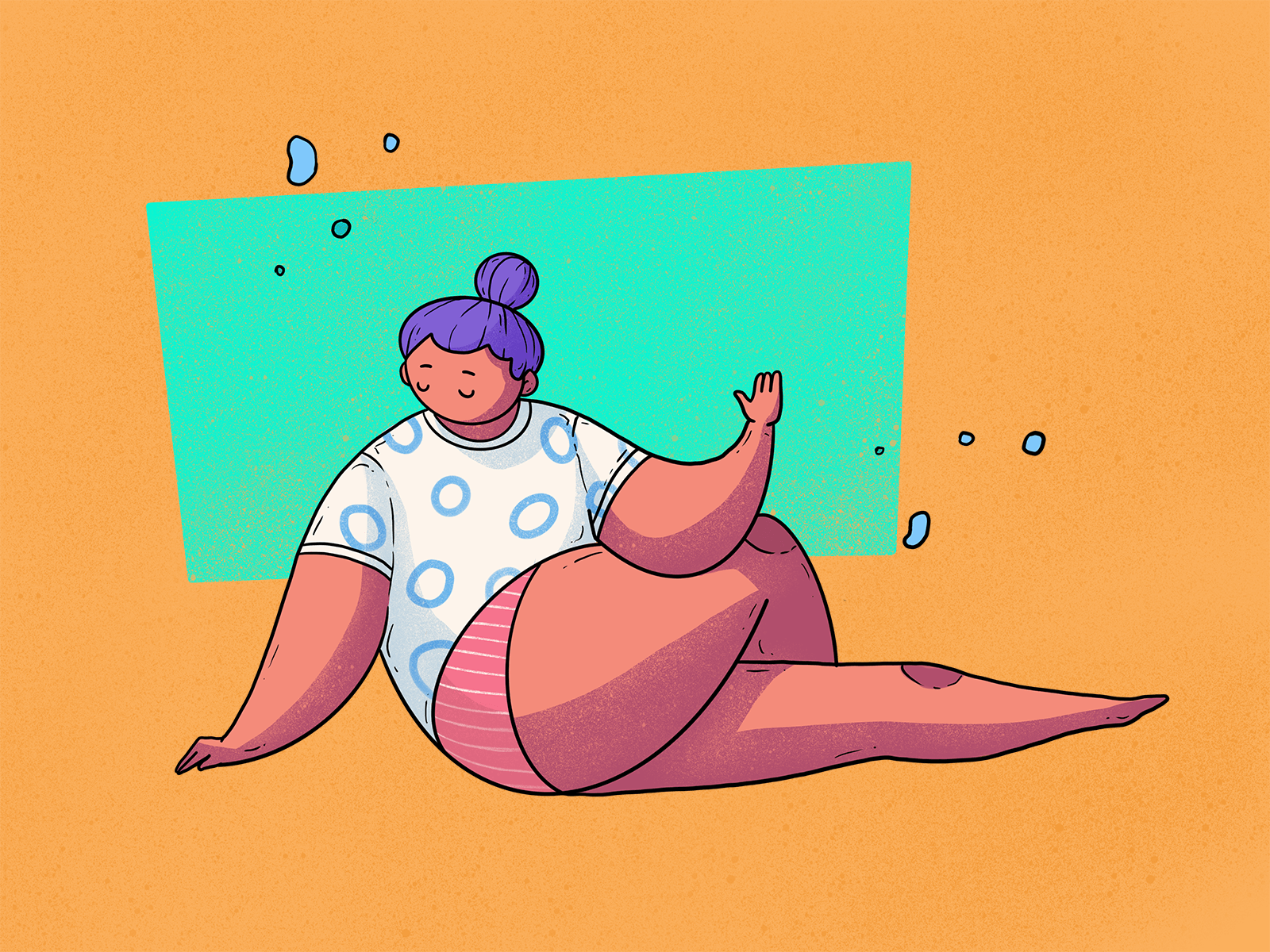 yoga chill illustration tubik