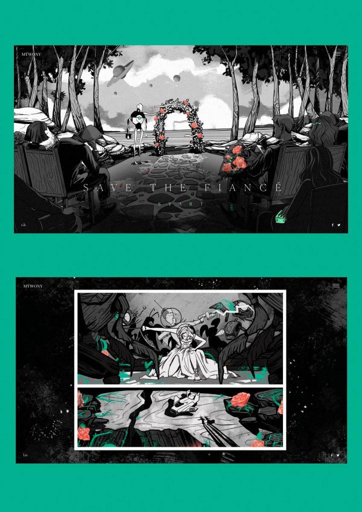 mywony storyboard illustrations