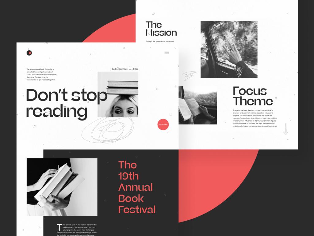 Book Festival Website Design Tubik