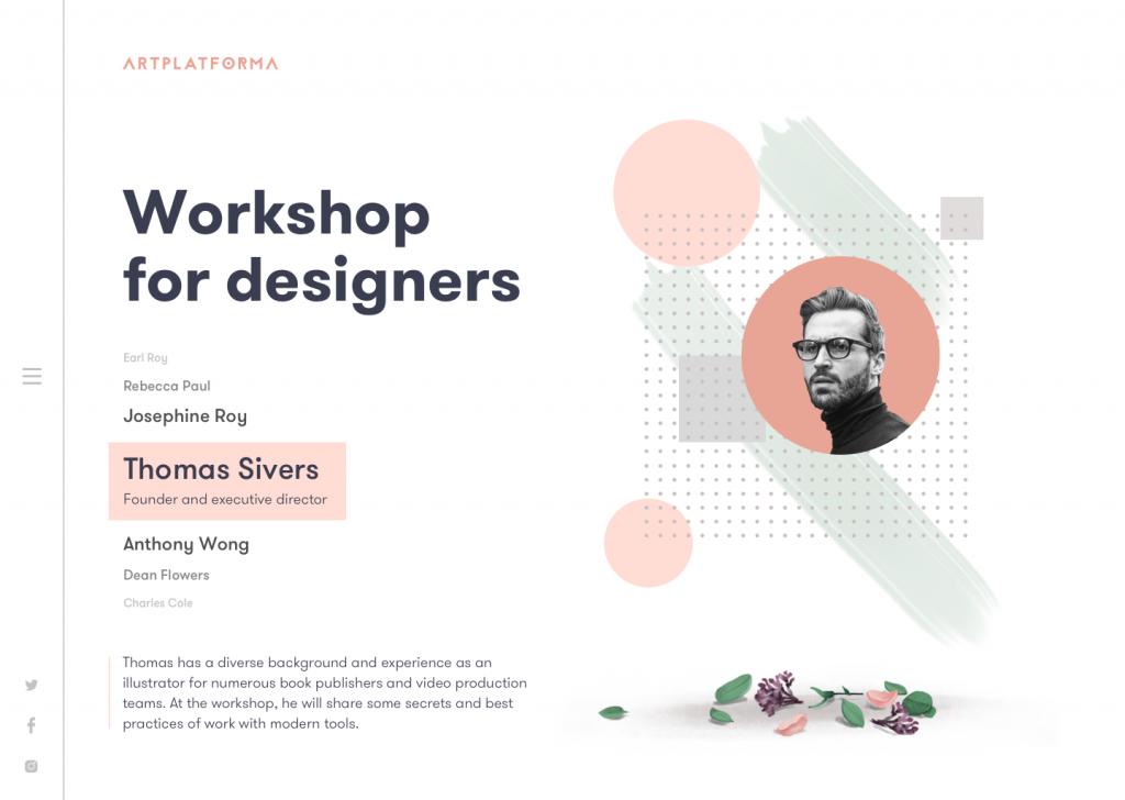 design conference landing page_design_tubik