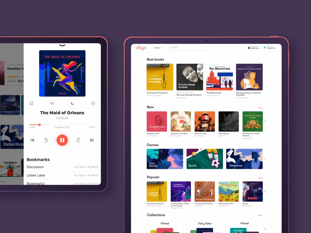 book covers design audiobook store tubik