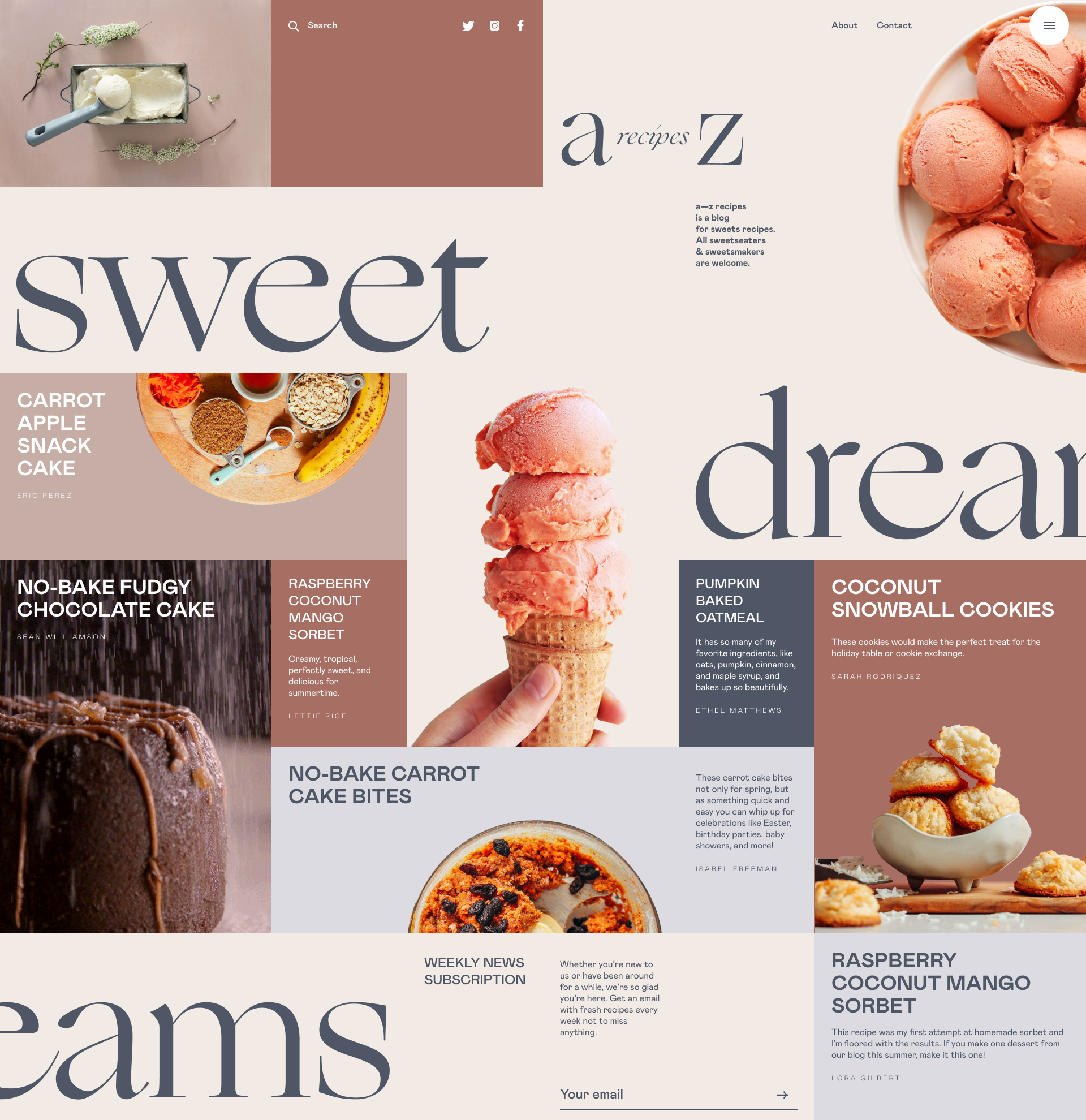 dessert recipe blog