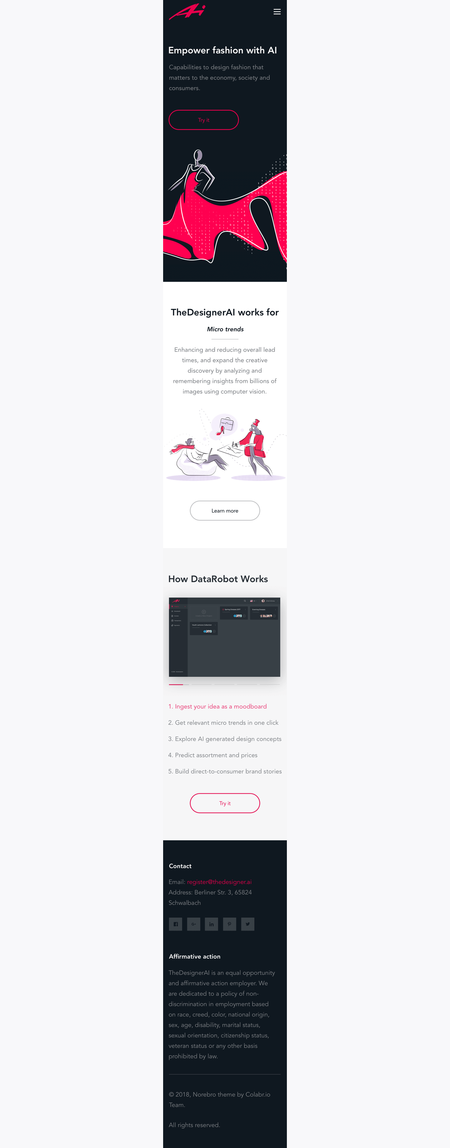 landing page mobile design