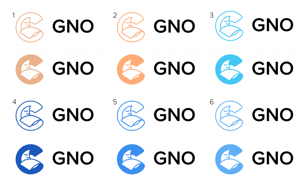 GNO logo colours design branding case study