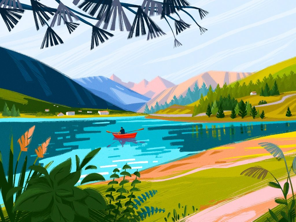 Rhaetian Alps illustration tubikarts