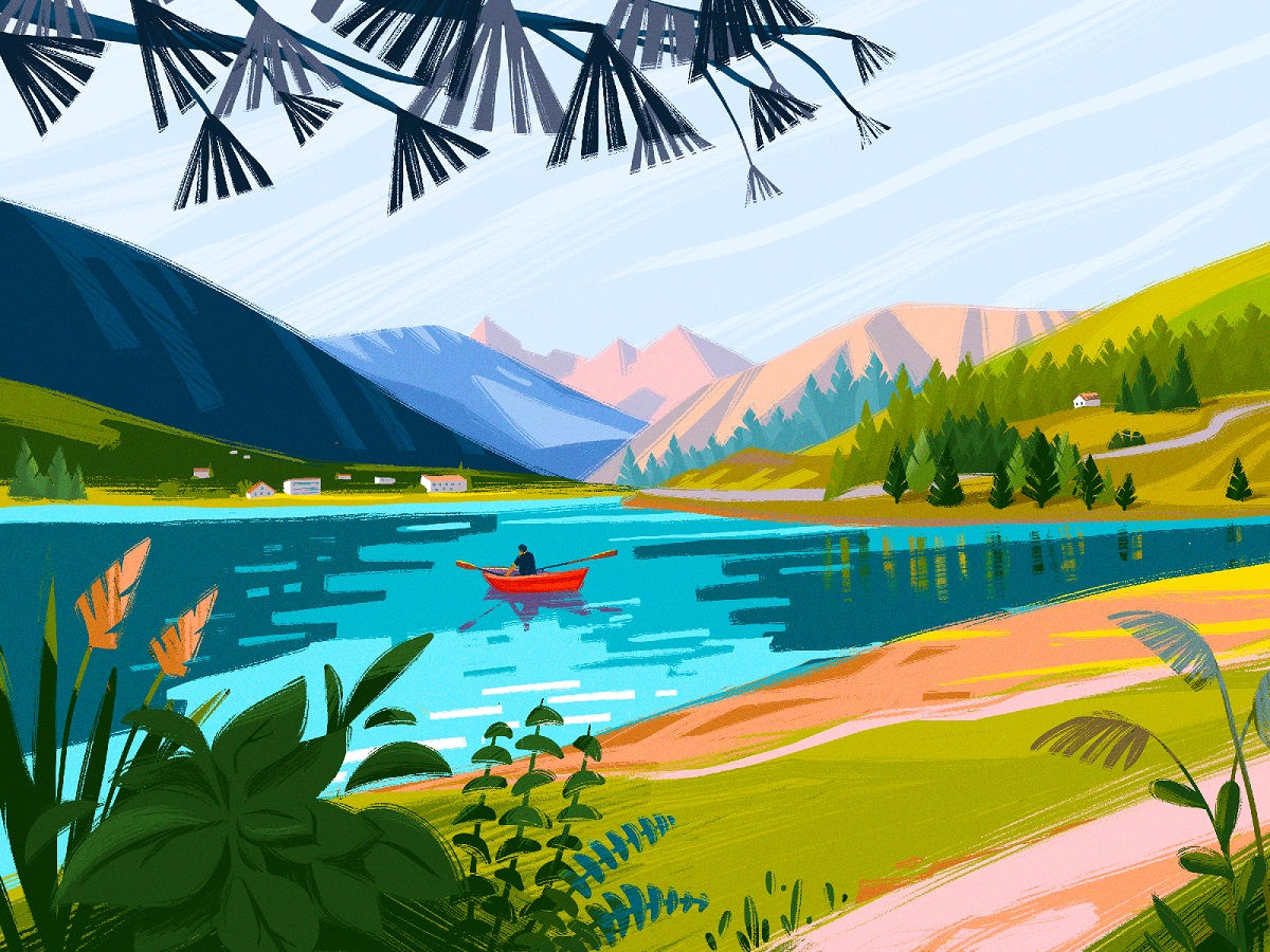 20+ Atmospheric Digital Illustrations: From Landscapes to City Views