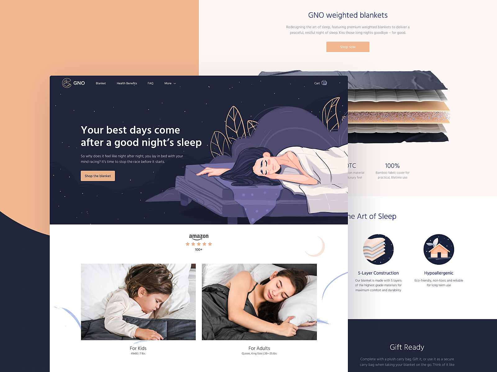 Case Study: GNO Blankets. Branding and Website for Ecommerce
