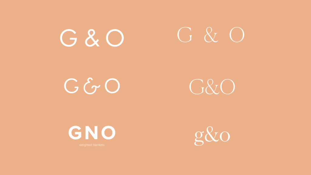 wordmark variations design gno branding case study
