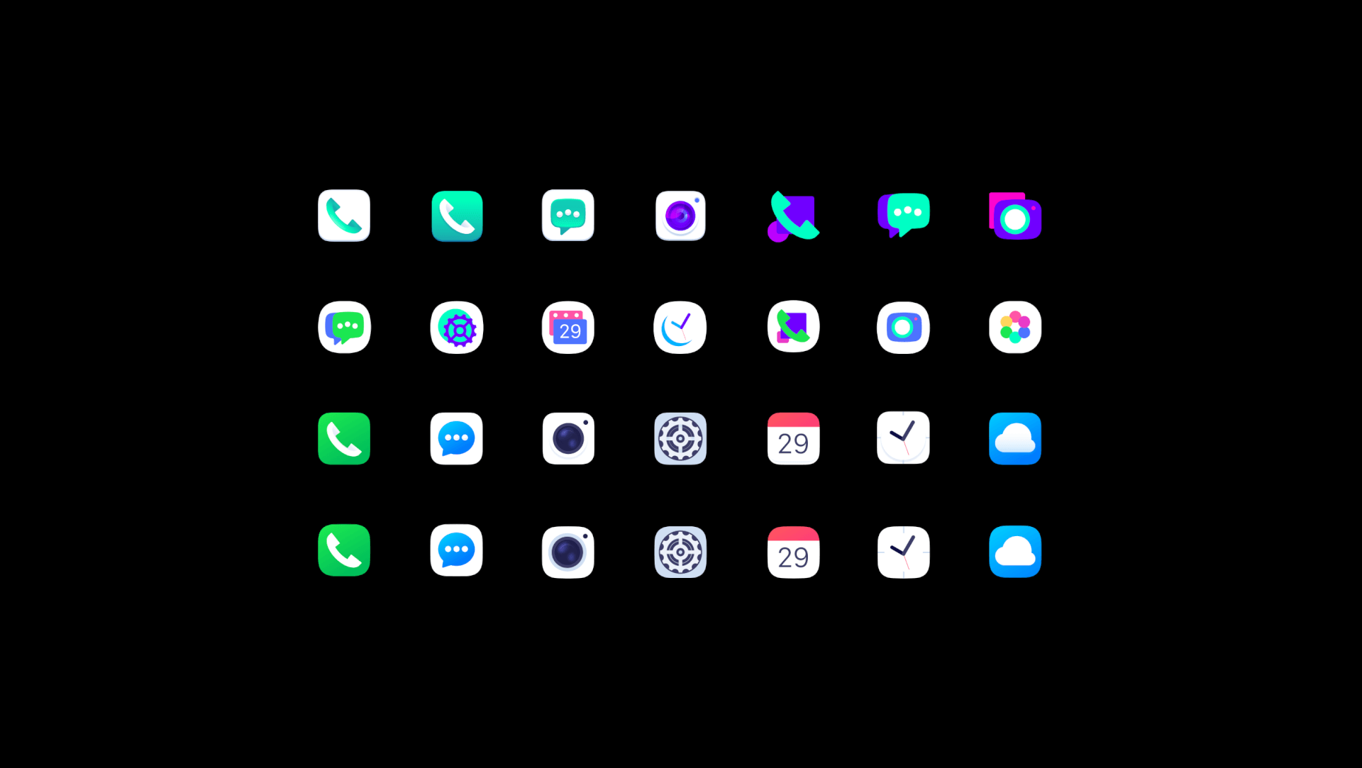 HUAWEI_EMUI_icons_tubik design process