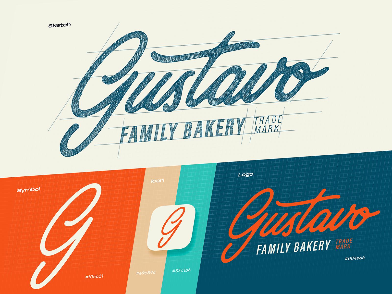 bakery logo design tubik