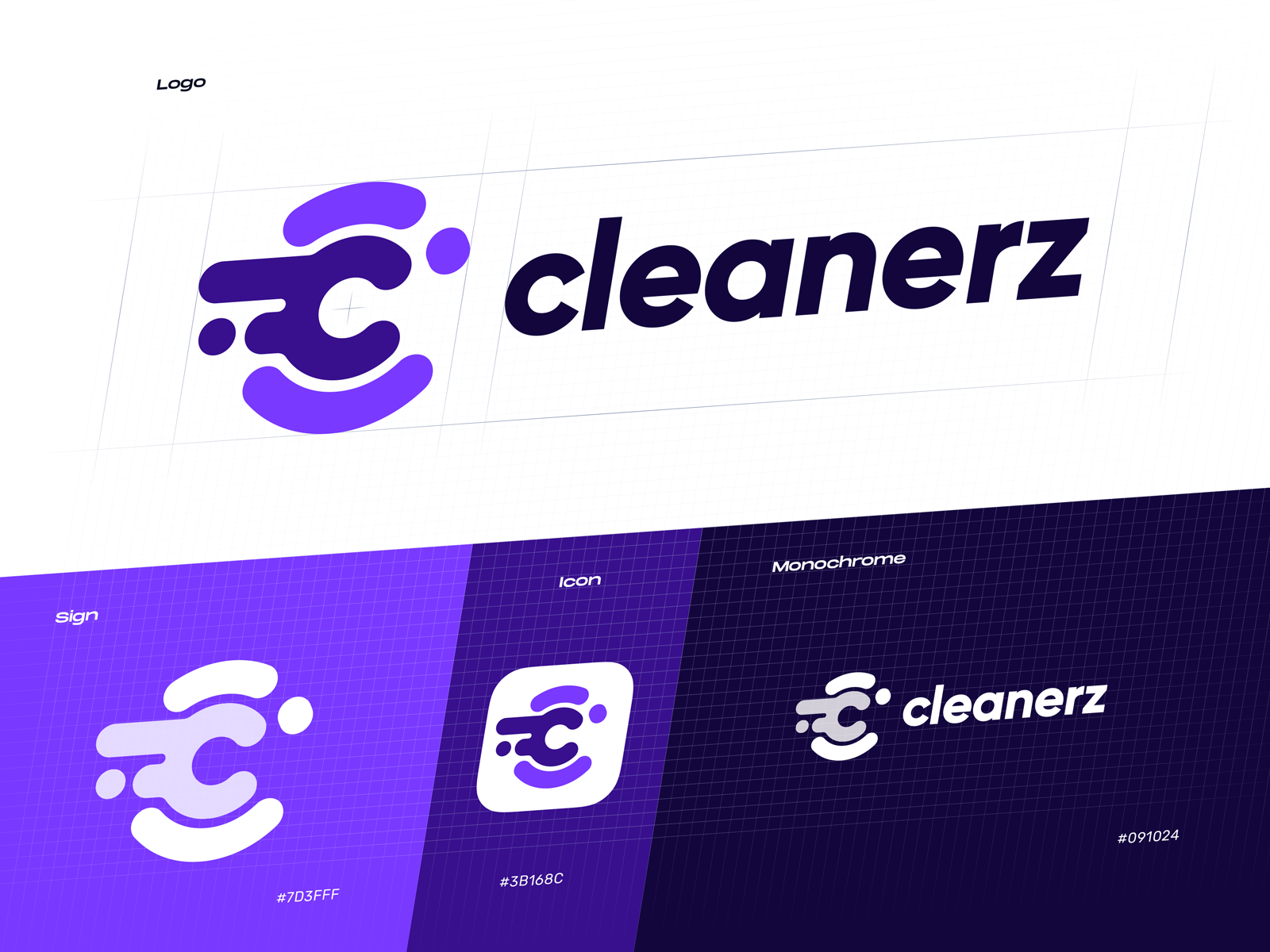 cleanerz logo design tubik