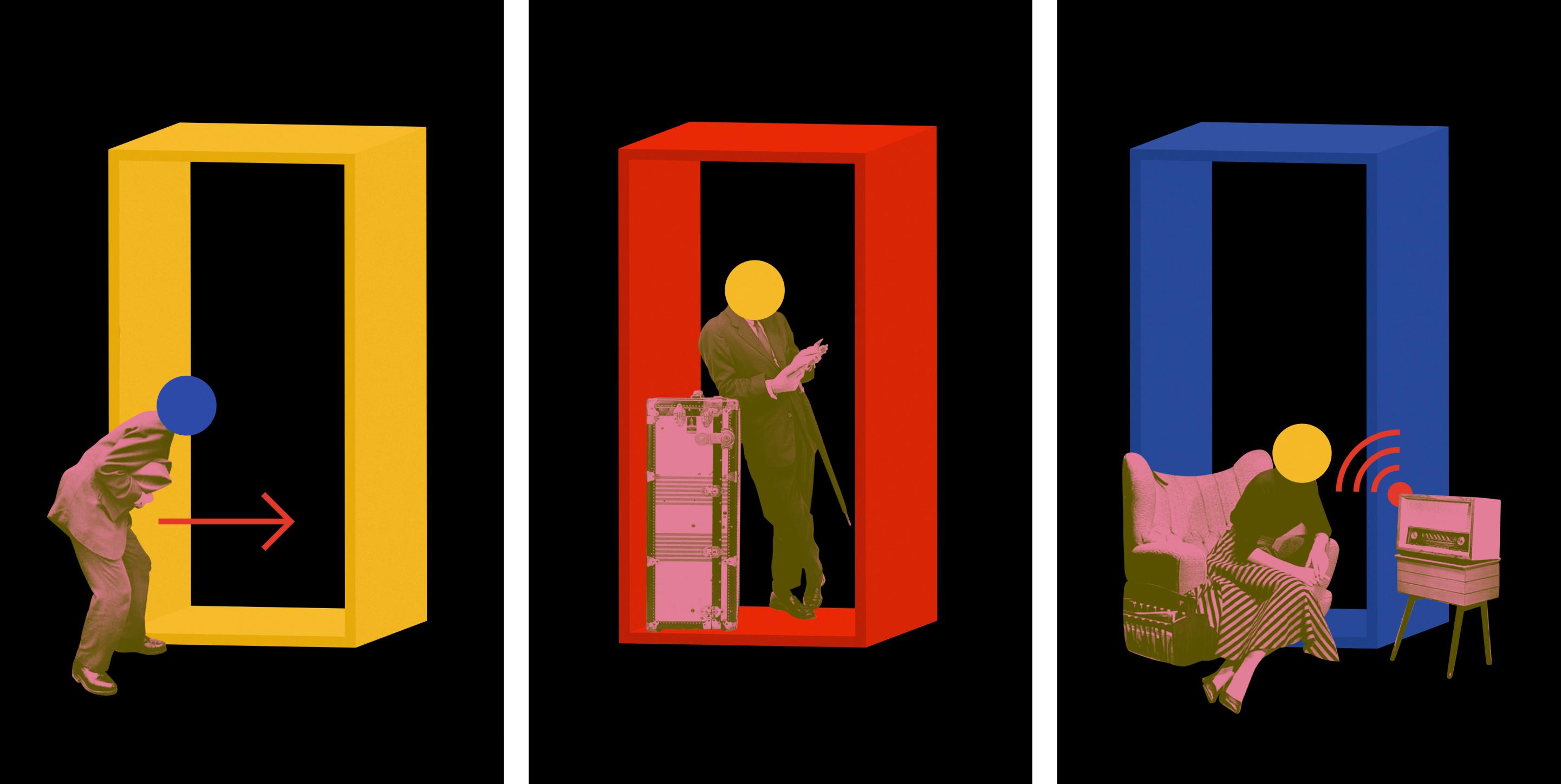 illuminating radioactivity collages design