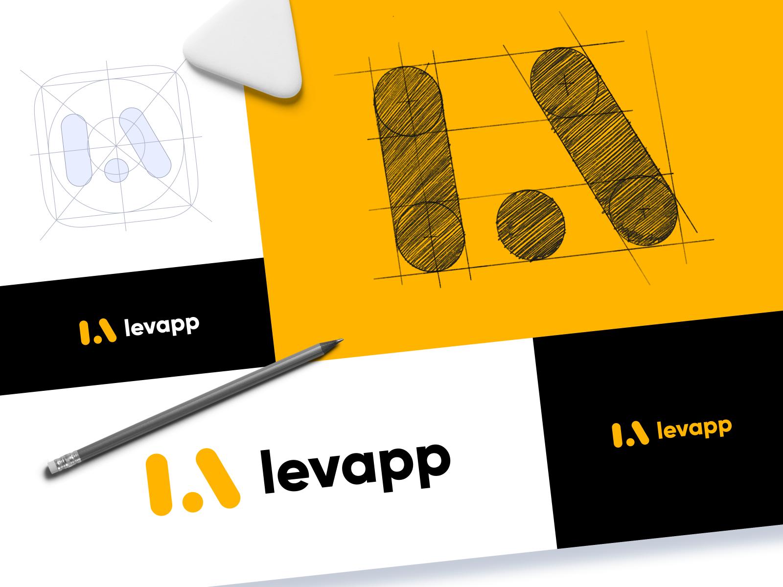 logo design levapp laundry service
