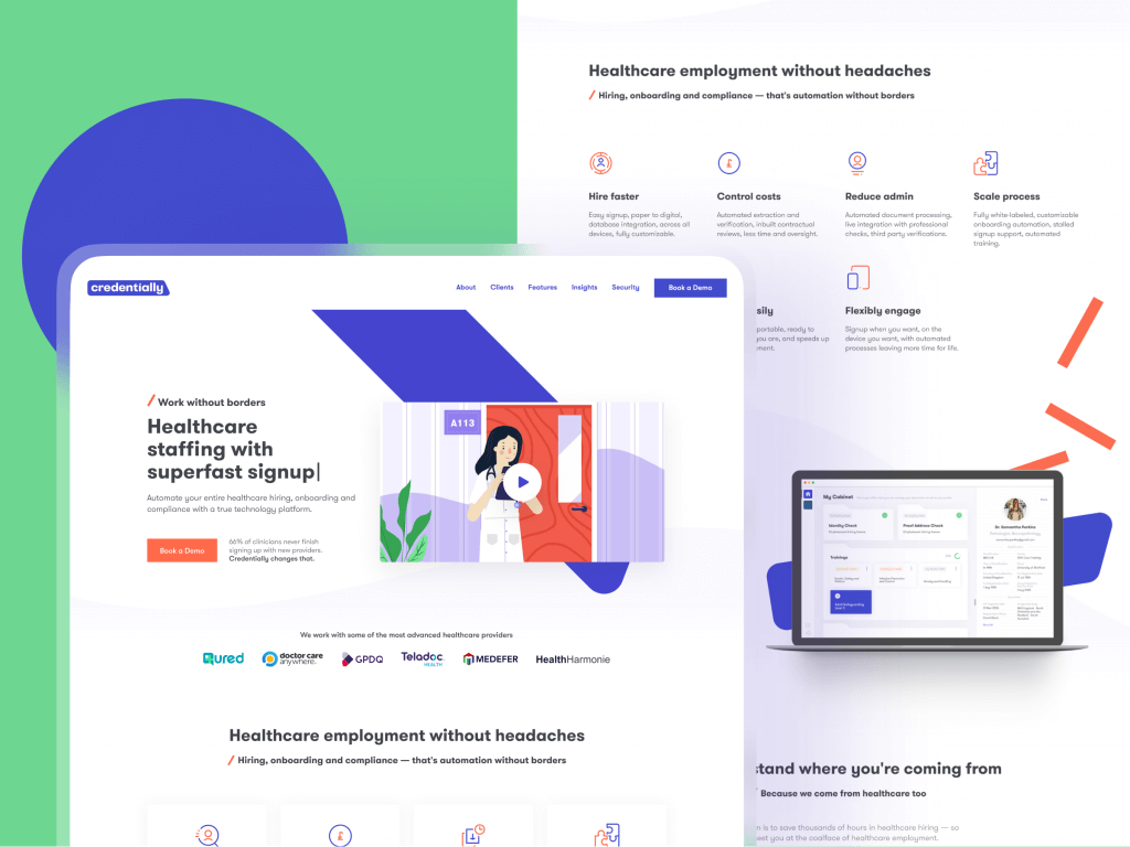 credentially design website case study tubik