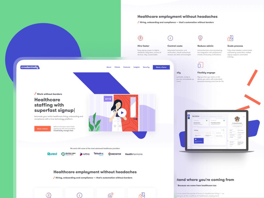 credentially design website case study tubik