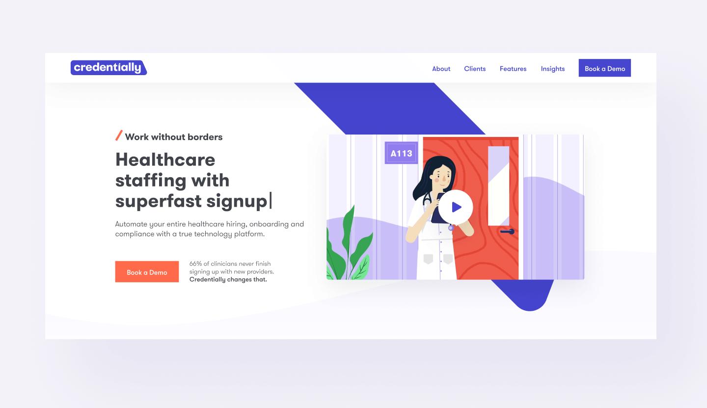 hero final credentially website design