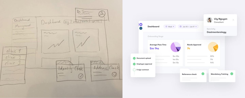 hero sketch v1 credentially website design