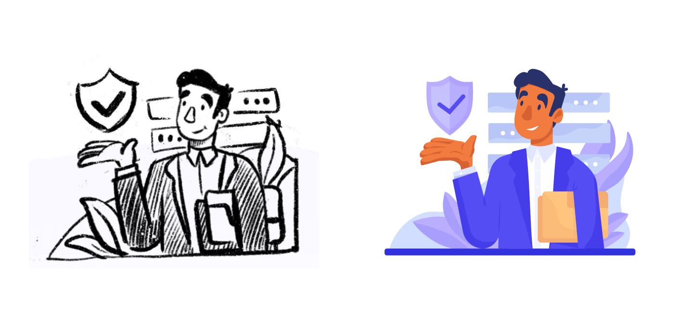 sketch+color (v1) credentially website design