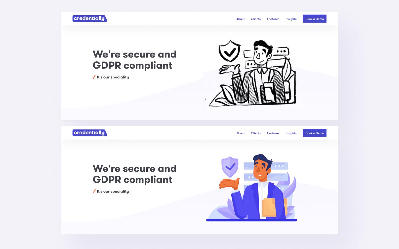 sketch+color v2 credentially website design