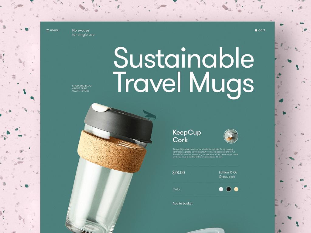 product page zero-waste website tubik design