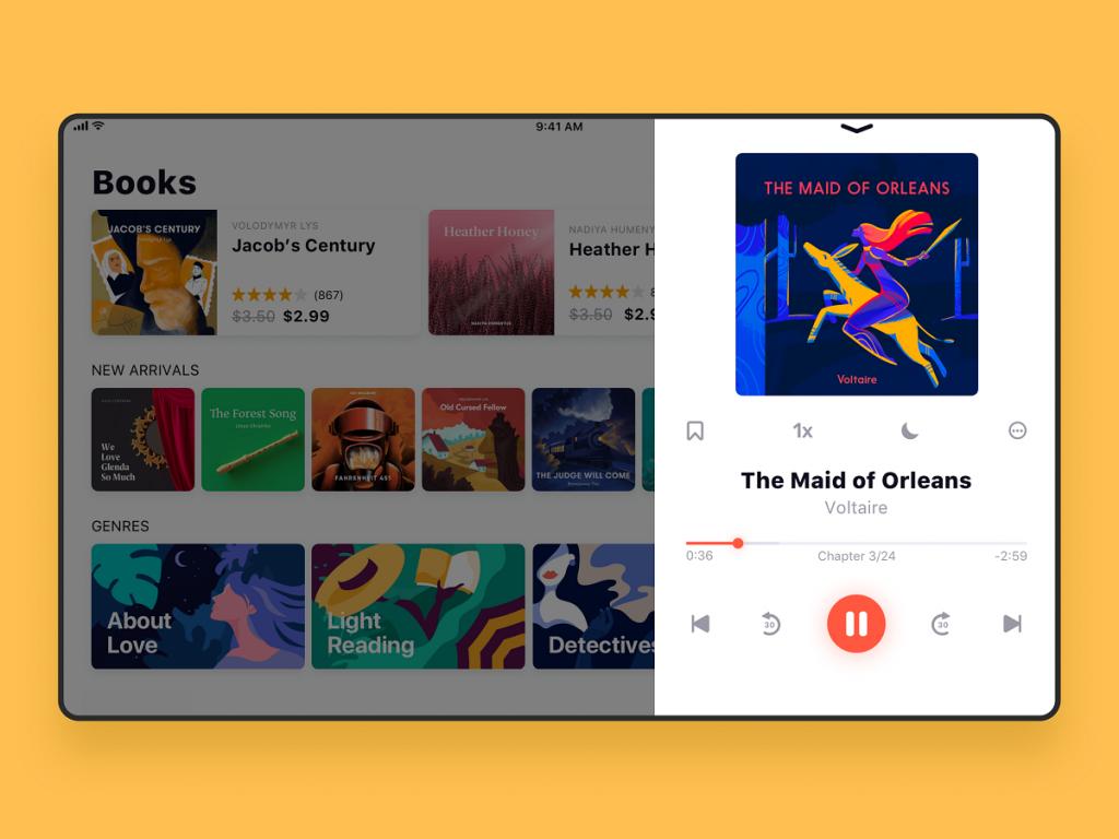 audiobook store_ipad_ui_tubik