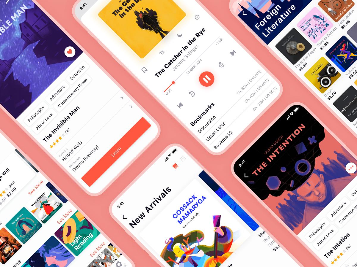 audiobooks mobile app ui_tubik